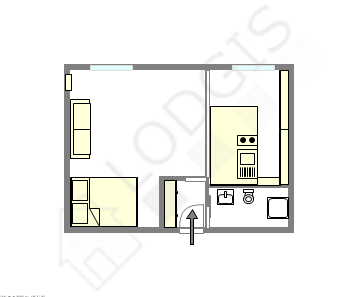 Appartement Paris 2° - Plan interactif