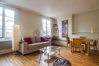 Belleville – Ménilmontant Париж 20° 1 спальня Квартира