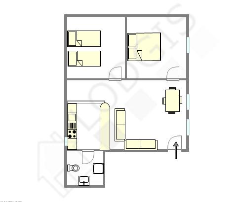 Apartment Paris 11° - Interactive plan