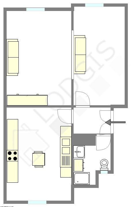 Wohnung Haut de seine Nord - Interaktiven Plan