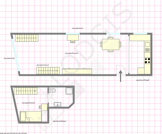 Duplex Paris 19° - Interactive plan
