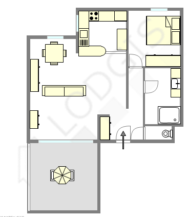 Location appartement 1 chambre avec garage terrasse et for Garage marceau colombes avis