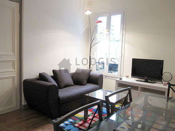 Very quiet living room furnished with 1 sofabed(s) of 130cm, tv, 4 chair(s)