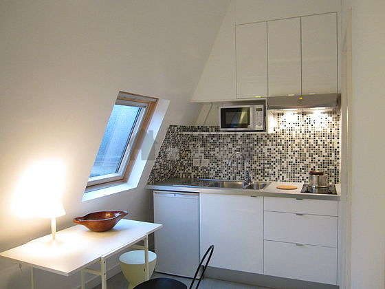 Beautiful kitchen with concrete floor