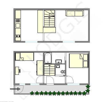 Maison individuelle Paris 15° - Plan interactif