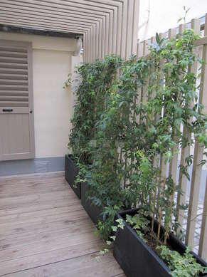 Terrasse avec du parquet au sol
