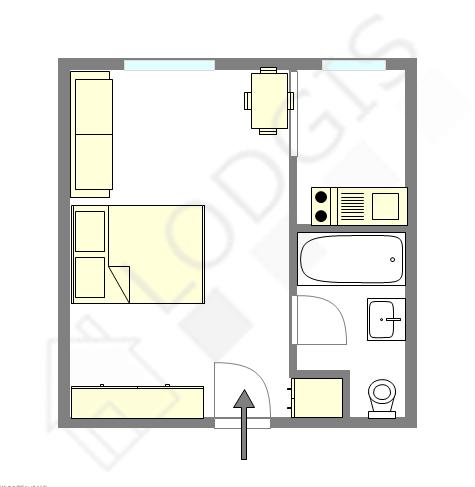 Квартира Seine st-denis Est - Интерактивный план