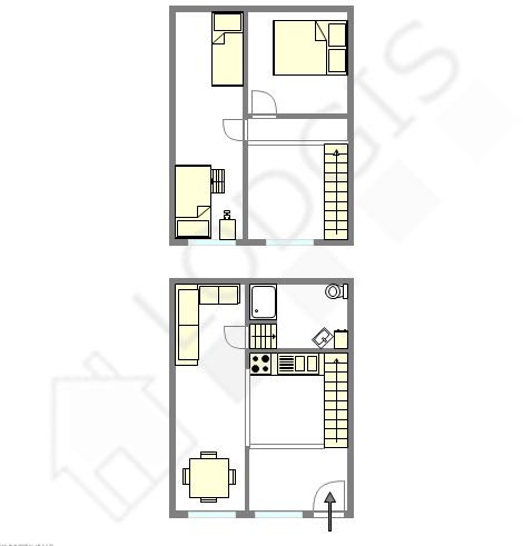 Duplex Paris 2° - Plan interactif