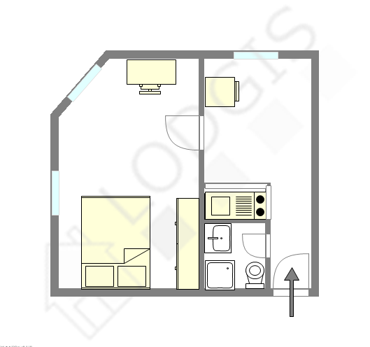 公寓 Val de marne est - 互動圖