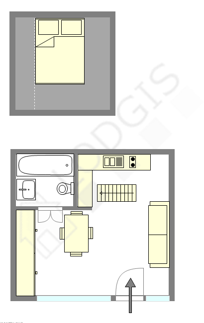 Apartment Paris 3° - Interactive plan