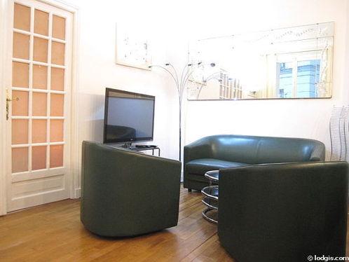 Séjour très calme équipé de 1 canapé(s) lit(s) de 120cm, téléviseur, 2 fauteuil(s)