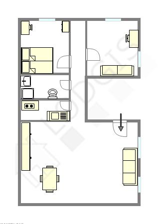 Appartement Paris 5° - Plan interactif