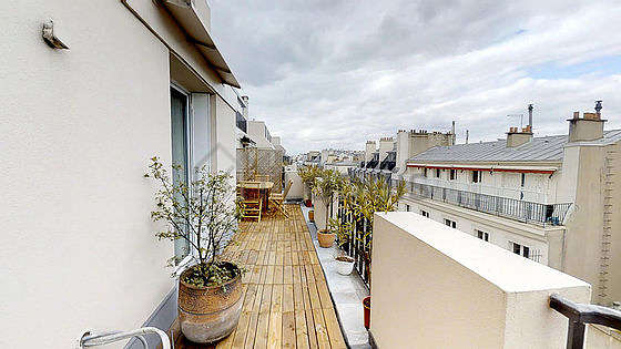 Balcony with view on road