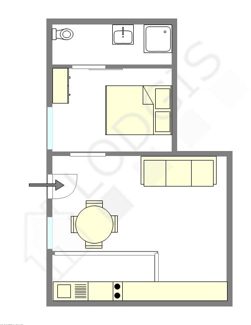 Appartamento Parigi 3° - Piantina interattiva