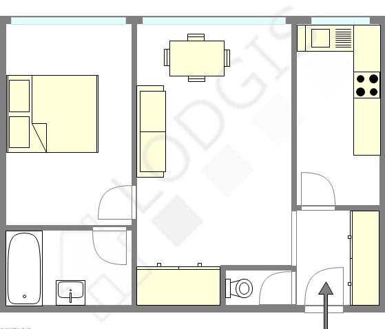 Квартира Париж 19° - Интерактивный план
