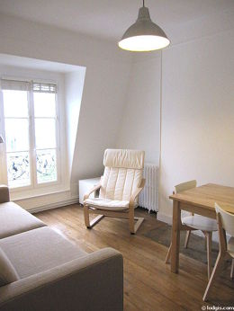 Paris Buttes Chaumont Square Bolivar Monthly Furnished Rental 1