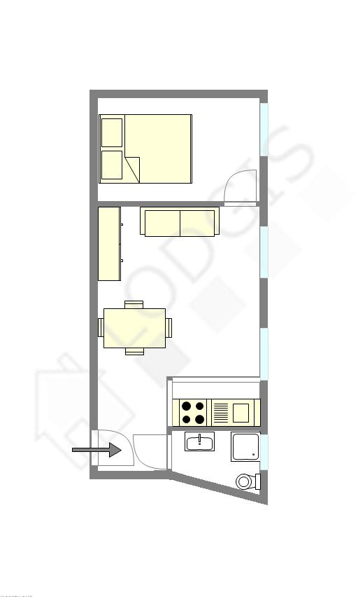 Wohnung Paris 10° - Interaktiven Plan