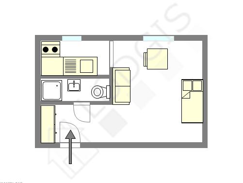Квартира Париж 13° - Интерактивный план