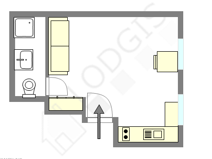 Appartement Paris 3° - Plan interactif