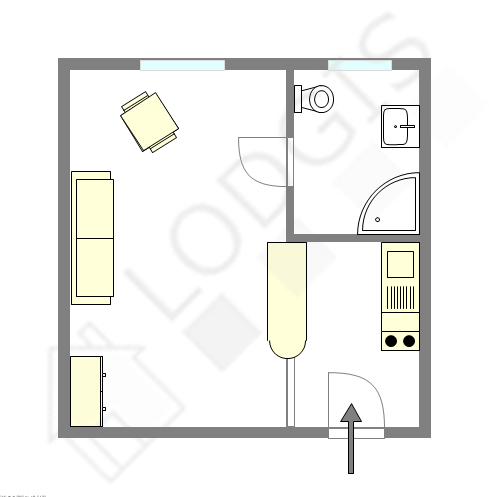 Apartment Paris 16° - Interactive plan