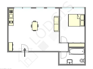 Apartment Seine st-denis Nord - Interactive plan