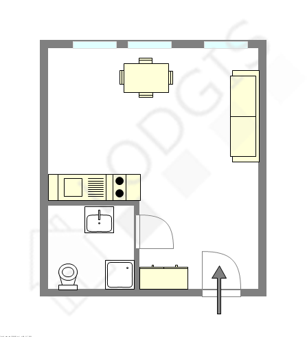 公寓 Seine st-denis Nord - 平面图