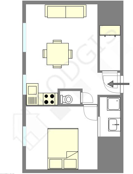 公寓 Val de marne est - 平面图