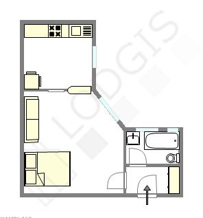 公寓 巴黎5区 - 平面图