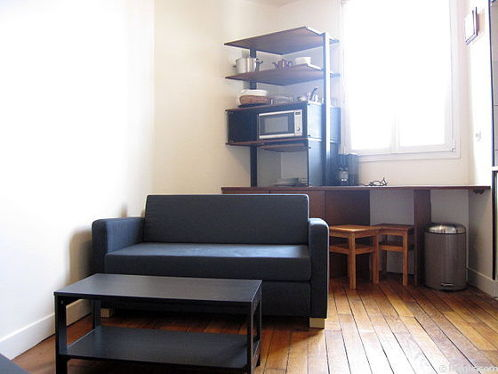Séjour très calme équipé de 1 canapé(s) lit(s) de 130cm, téléviseur