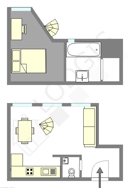双层公寓 巴黎19区 - 平面图