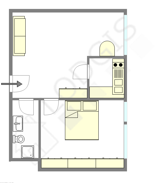 Appartement Paris 7° - Plan interactif