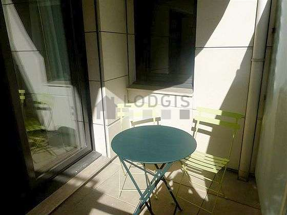 Very quiet and bright balcony with paving floor