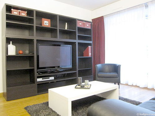 Quiet living room furnished with 1 sofabed(s) of 130cm, tv, dvd player, 1 armchair(s)