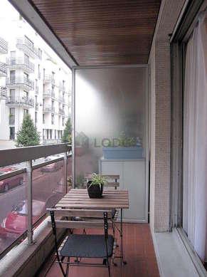 Balcony with tile floor