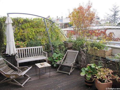 Location appartement 1 chambre avec terrasse ascenseur et for Appartement terrasse paris 14