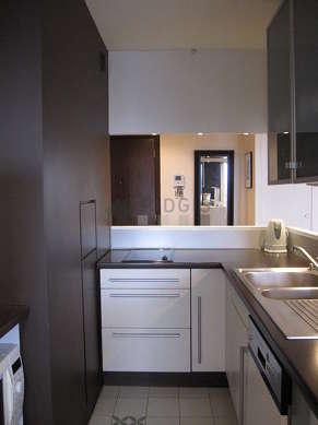 Kitchen with double-glazed windows and balcony