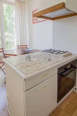 Kitchen where you can have dinner for 4 person(s) equipped with dishwasher, hob, refrigerator, hood