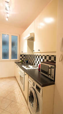 Great kitchen of 7m² with tile floor