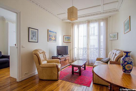 Séjour calme équipé de téléviseur, 1 fauteuil(s), 2 chaise(s)