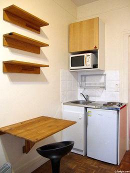 Kitchen with wooden floor