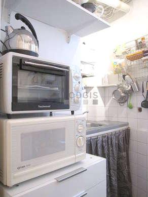 Kitchen with linoleum floor