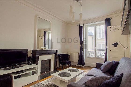 Very quiet living room furnished with 1 sofabed(s), tv, hi-fi stereo, 1 armchair(s)