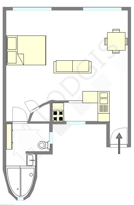 Appartement Paris 19° - Plan interactif
