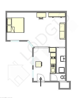 Appartement Paris 8° - Plan interactif