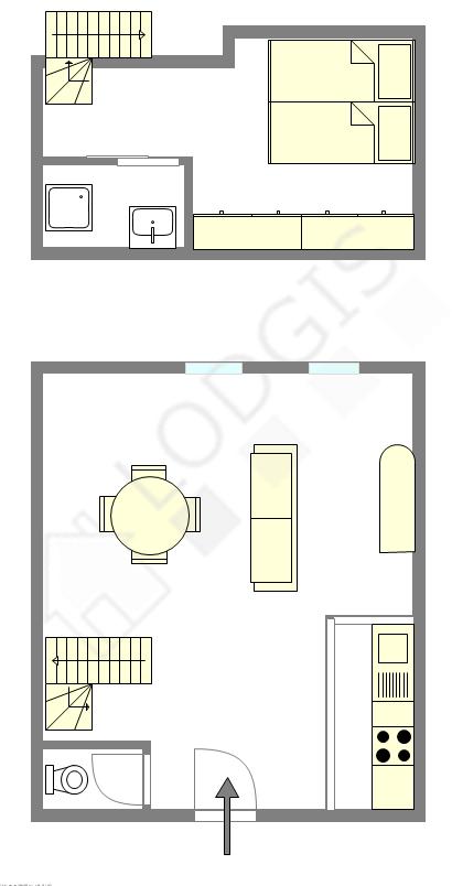 Duplex Paris 7° - Plan interactif