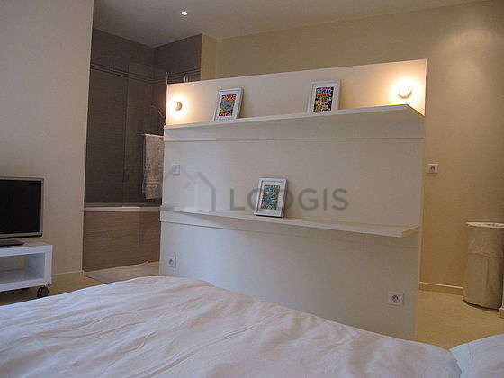 Bedroom equipped with tv, dvd player