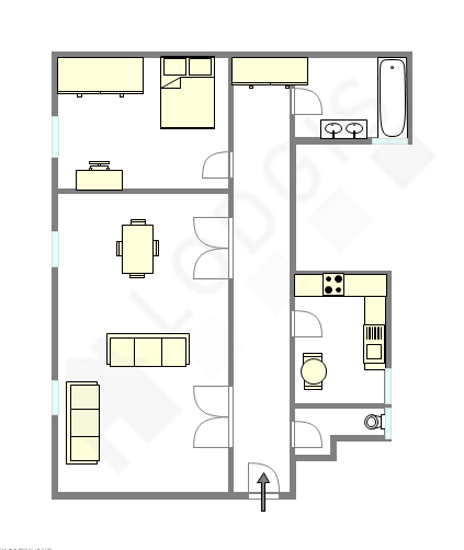 Appartement Paris 16°   Plan Interactif