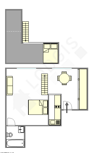Apartment Paris 4° - Interactive plan