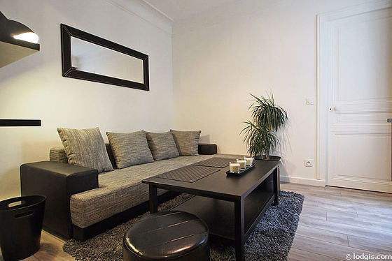 Quiet Living Room Furnished With Tv