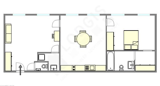 公寓 巴黎1区 - 互動圖